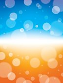 Vector Illustration of a colorful abstract background of a bright horizon