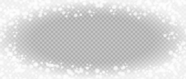 Frost vector png frame. Ice frozen vector background. Snow texture border.