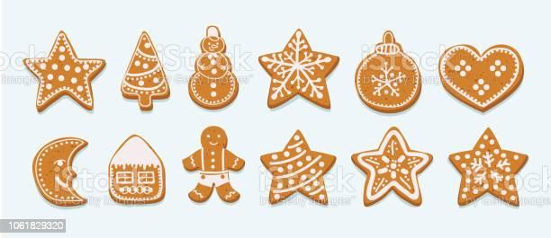 Frosting Gingersnap On A White Background - Arte vetorial de stock e mais imagens de Açúcar