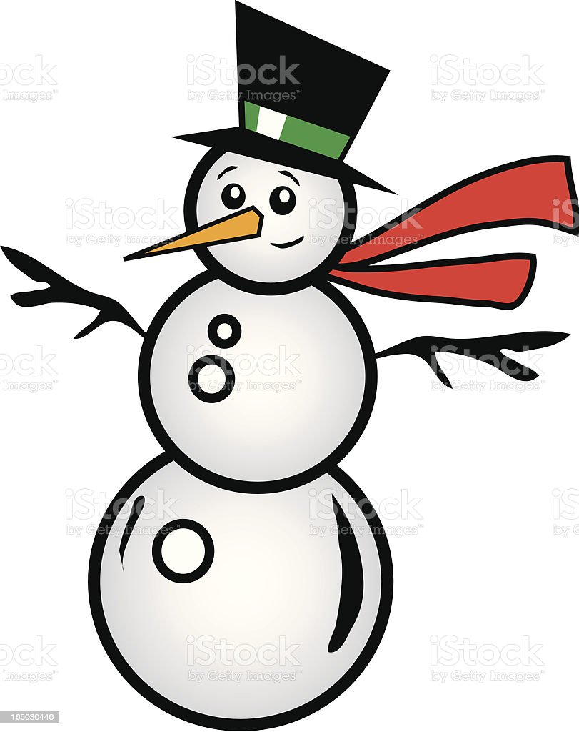 Frosty Guy royalty-free stock vector art