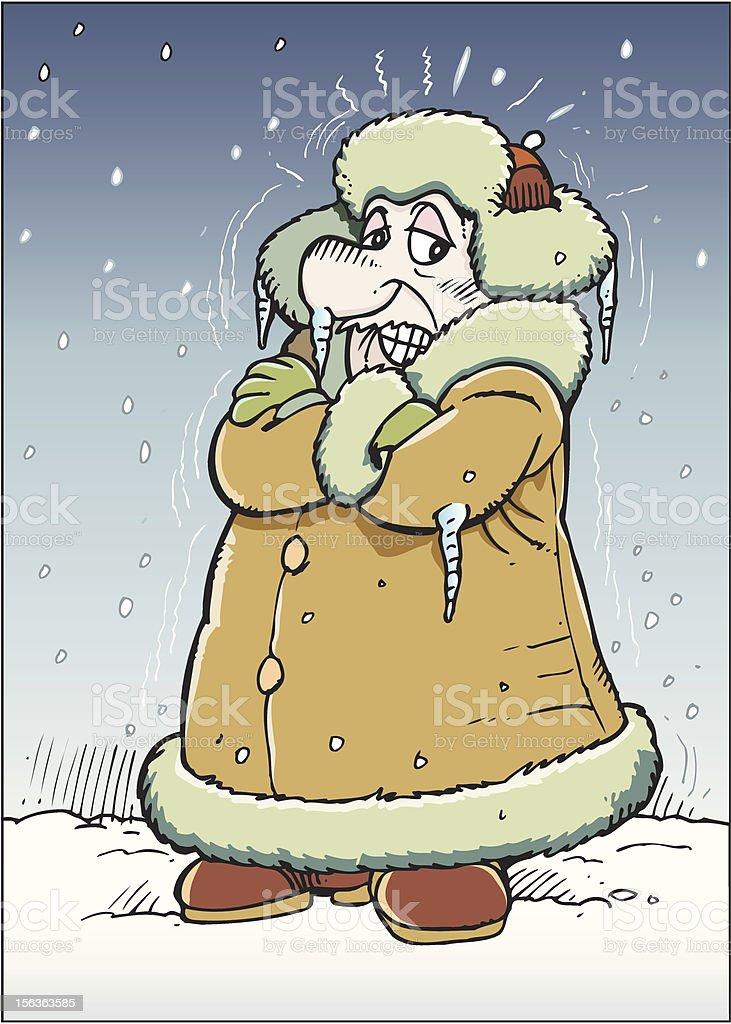 Frosty man royalty-free stock vector art