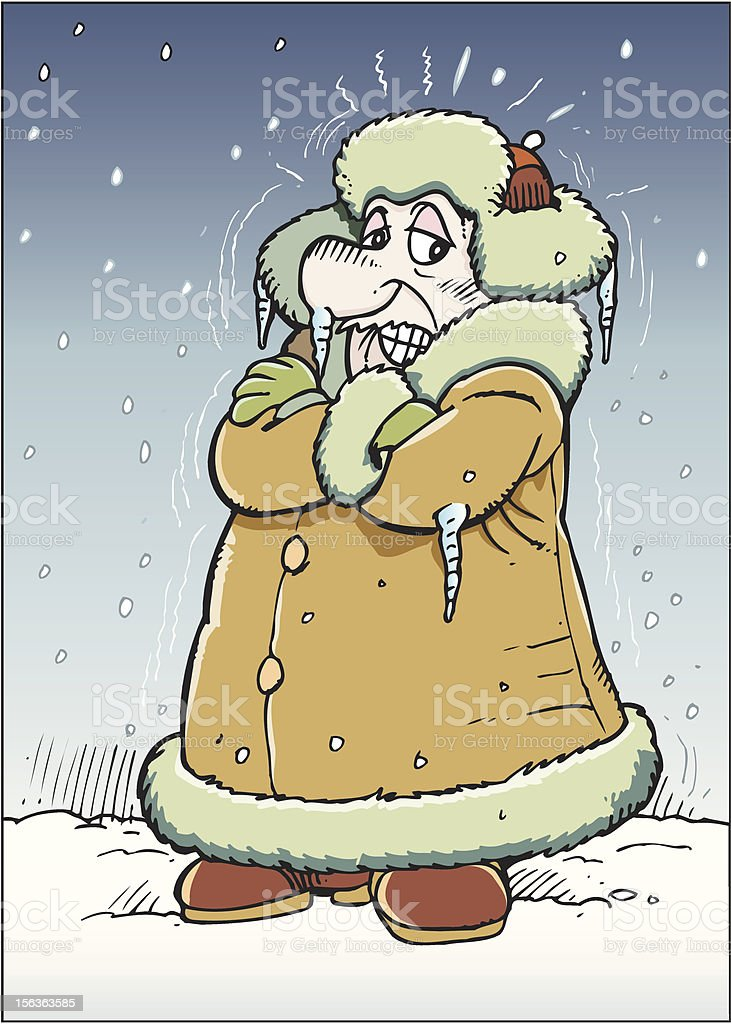 Frosty man vector art illustration
