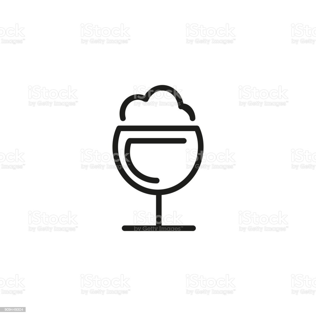 Frothy drink icon vector art illustration