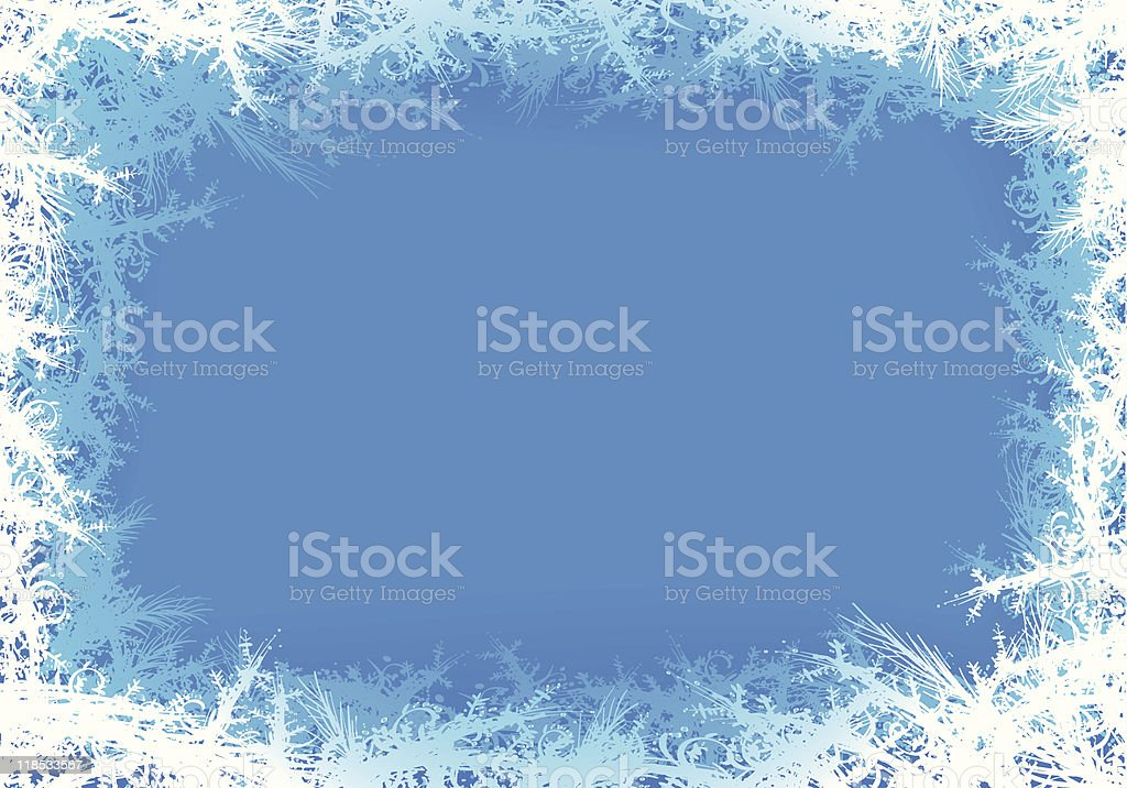frozen background vector art illustration