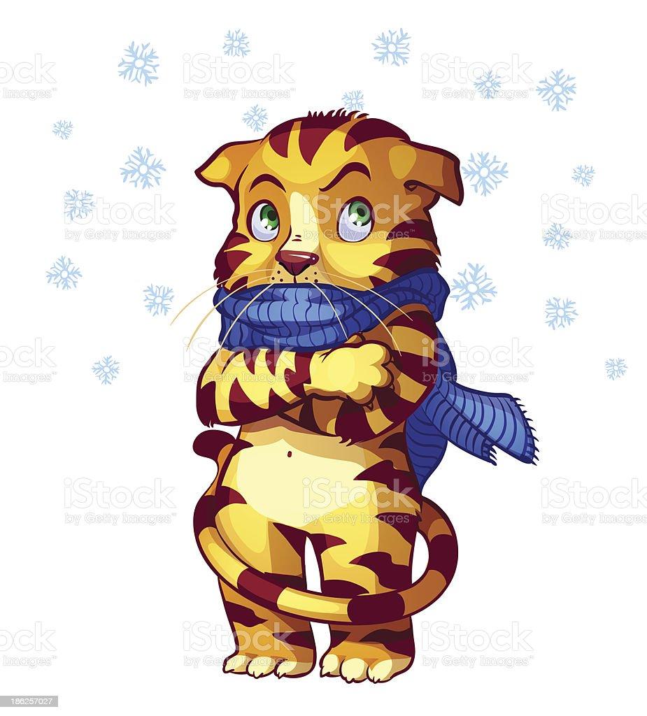 frozen cat royalty-free stock vector art
