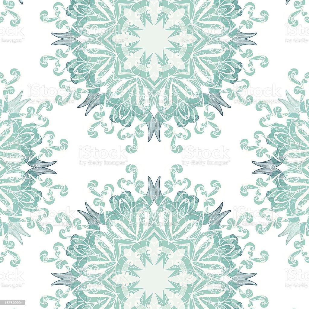 Frozen flowers seamless pattern royalty-free stock vector art
