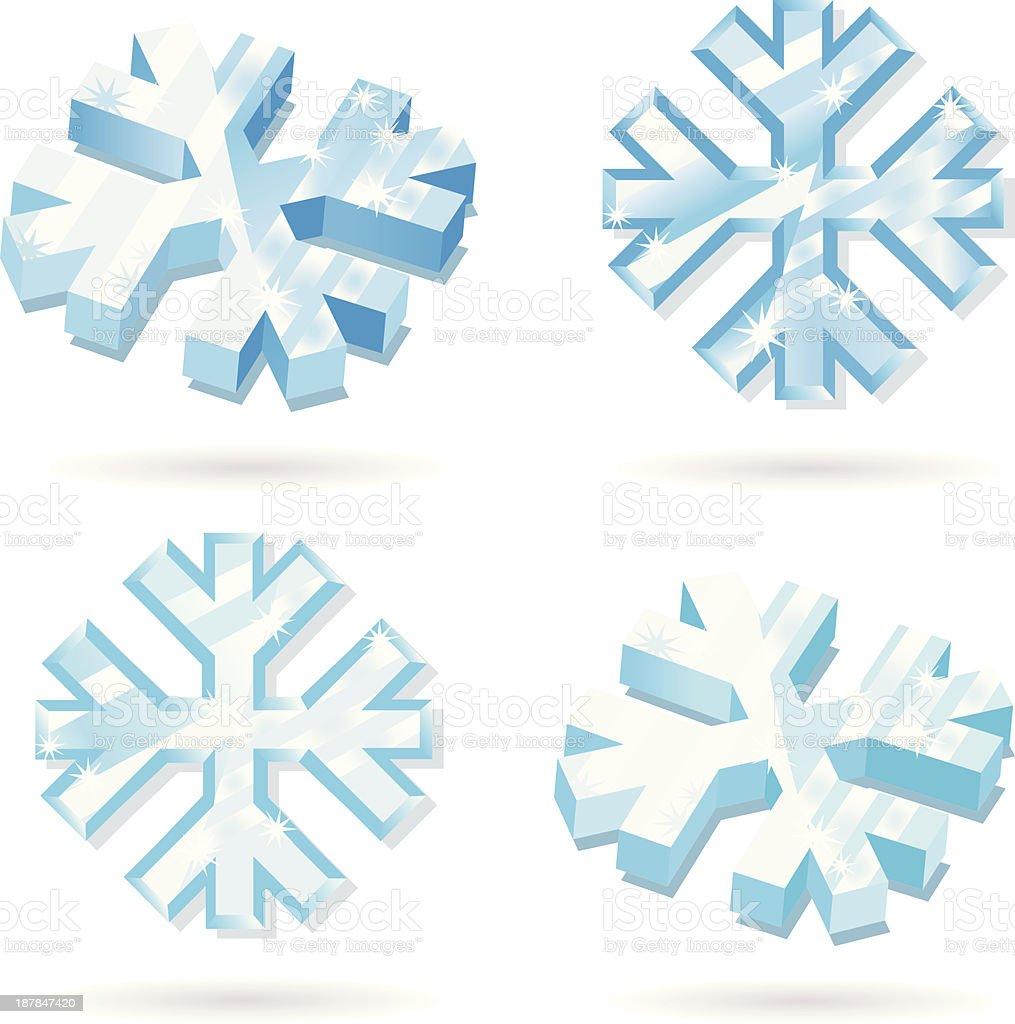 frozen Icecrystall. royalty-free stock vector art