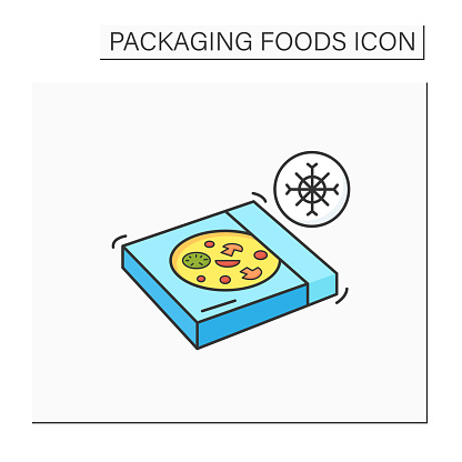 Frozen pizza color icon
