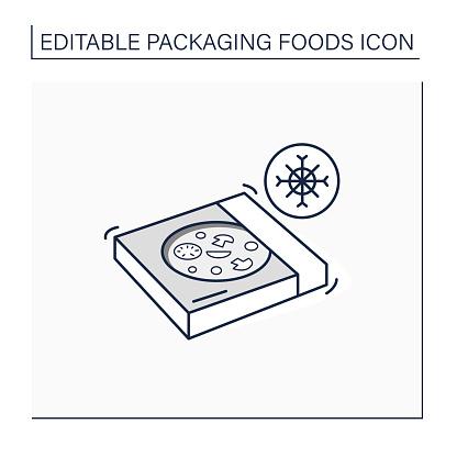 Frozen pizza line icon