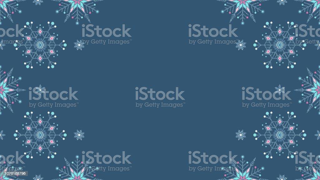 Donmuş Kar Taneleri Grunge Dekorasyon Tam Hd Tatil Arka Plan Stok