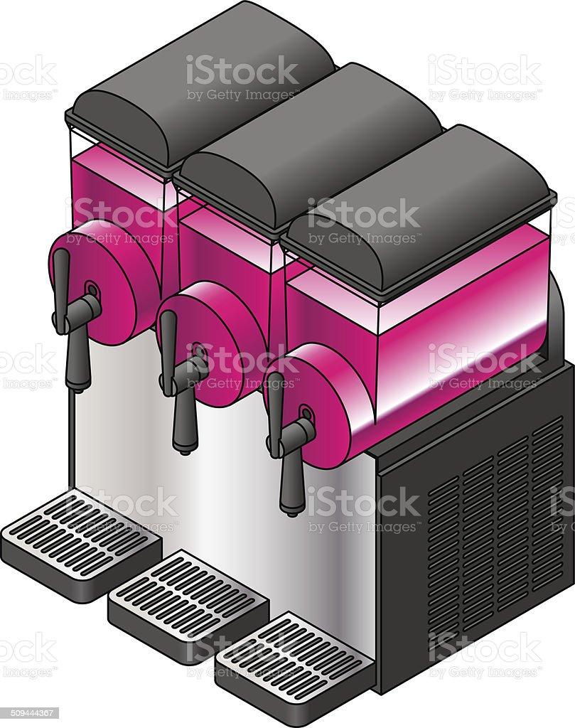 Frozen Soda Machine royalty-free stock vector art