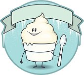 istock Frozen Vanilla CUSTARD Boy with Banner 165957668