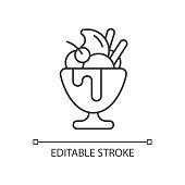 istock Frozen yogurt linear icon 1315377397
