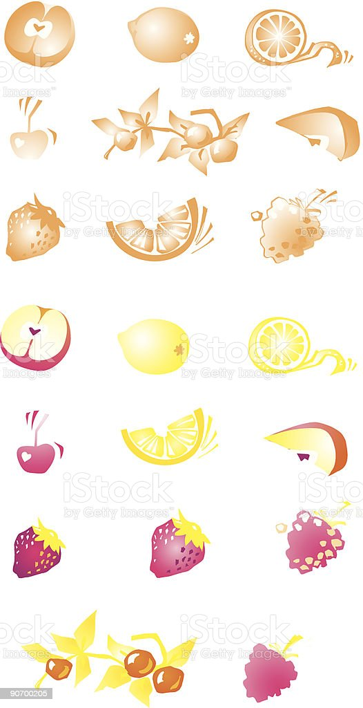 Fruit and berries royalty-free fruit and berries stock vector art & more images of apple - fruit