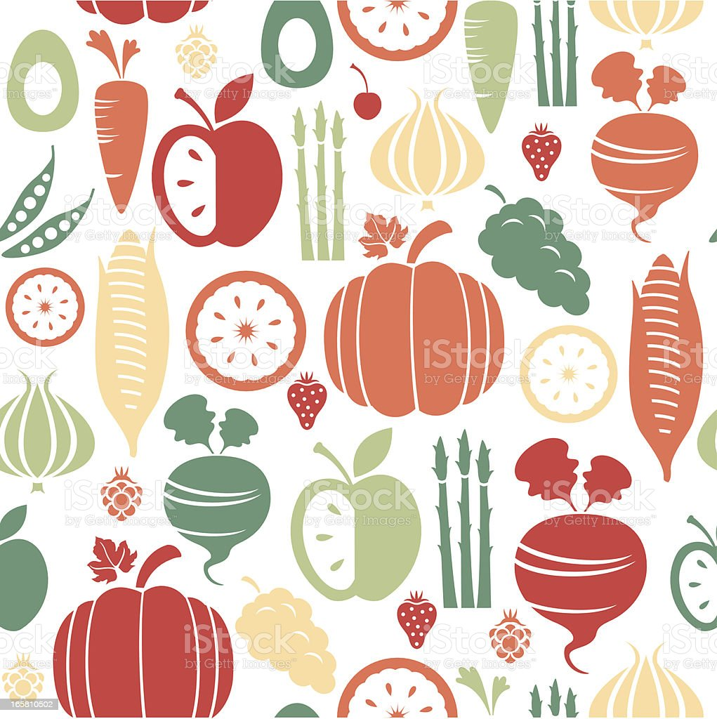 Fruit and Vegetable Pattern royalty-free fruit and vegetable pattern stock vector art & more images of apple - fruit