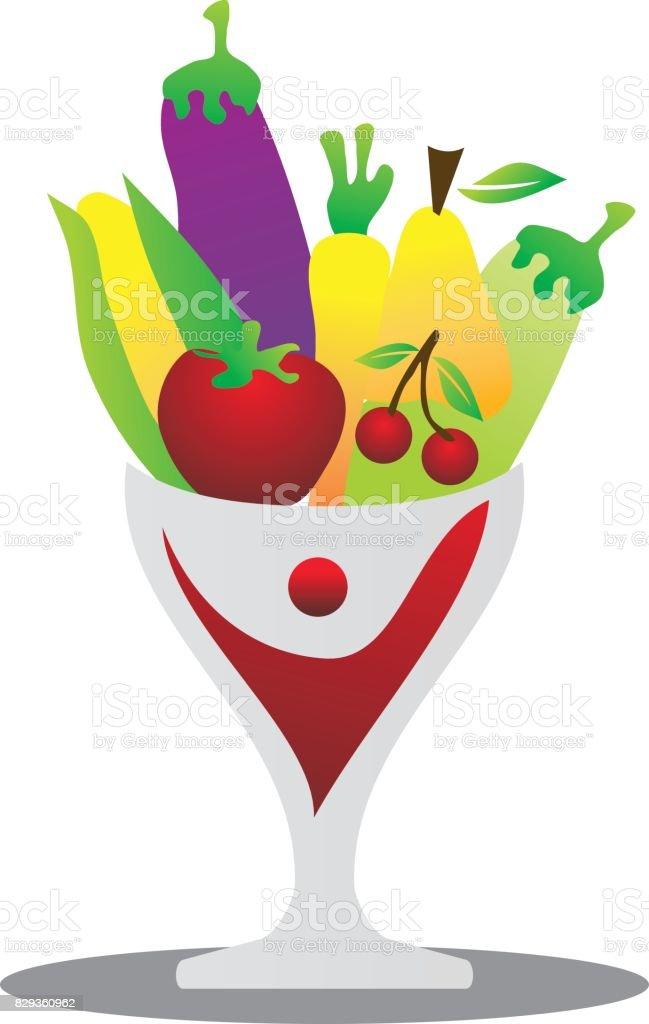 Fruit and Vegetable Store vector art illustration