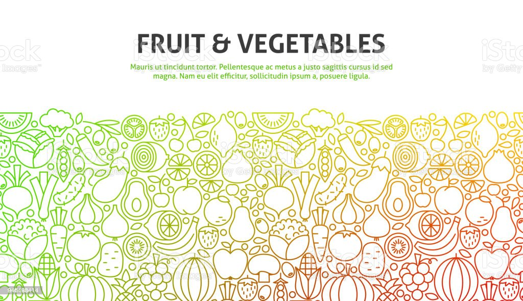 Fruit and Vegetables Concept vector art illustration