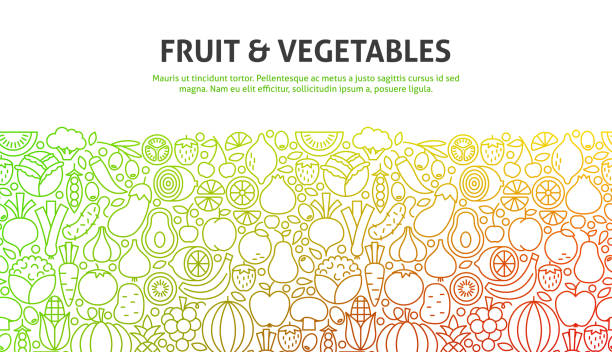 fruit and vegetables concept - fruit stock illustrations, clip art, cartoons, & icons