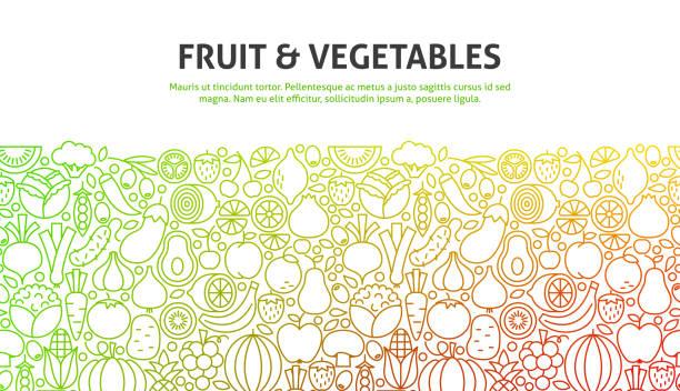 illustrations, cliparts, dessins animés et icônes de fruits et légumes concept - fruit