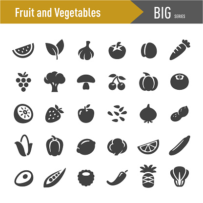 Fruit and Vegetables Icons - Big Series