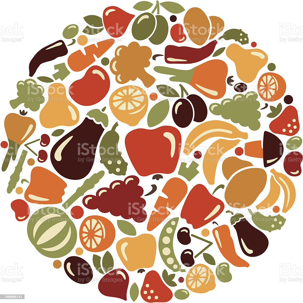 Fruit and vegetables royalty-free fruit and vegetables stock vector art & more images of agriculture