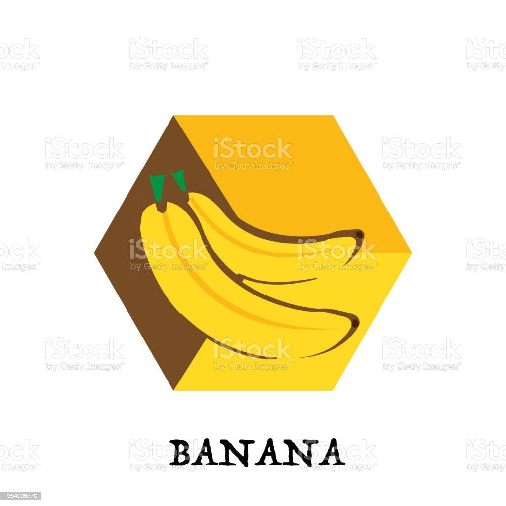 Fruit Banana Graphic Element Design Key Visual Icon Symbol Stock