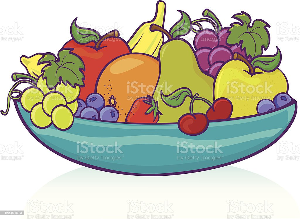 royalty free bowl of fruit clip art vector images illustrations rh istockphoto com clipart fruit and vegetable characters clip art fruit bowl