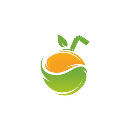 Fruit Drink logo designs concept vector, Juice logo template