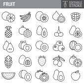 A set of editable stroke thin line icons. File is built in the CMYK color space for optimal printing. The strokes are 2pt and fully editable: Make sure that you set your preferences to 'Scale strokes and effects' if you plan on resizing!
