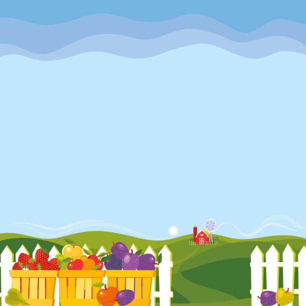 Fruit Farm vector art illustration