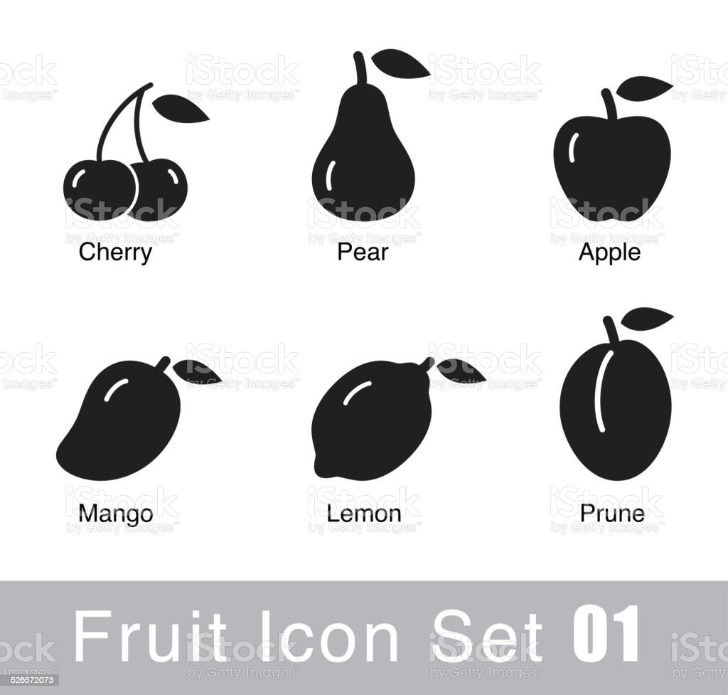 Fruit flat icon design vector art illustration