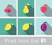 Fruit flat icon design