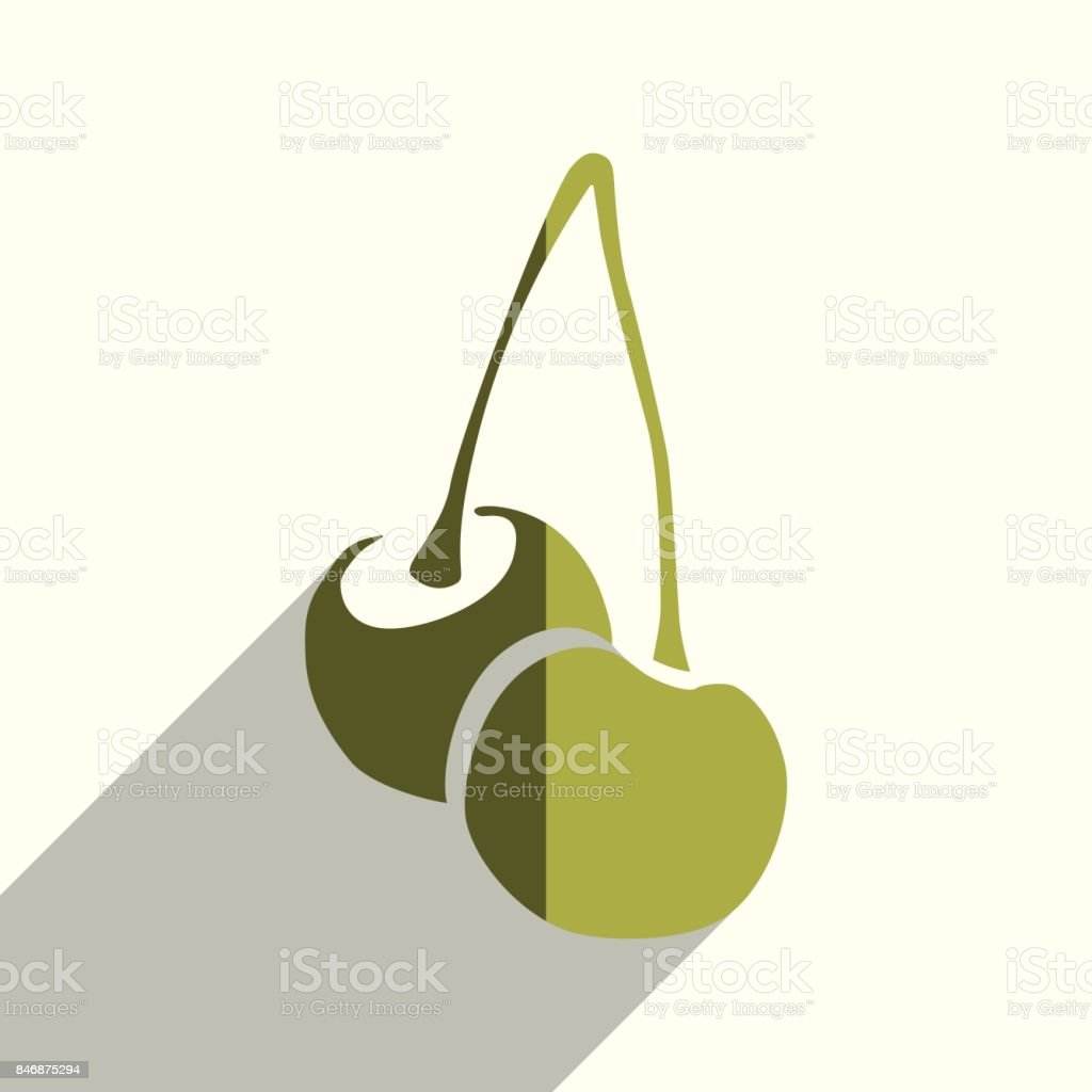 Fruit flat icons with of shadow. Vector illustration vector art illustration
