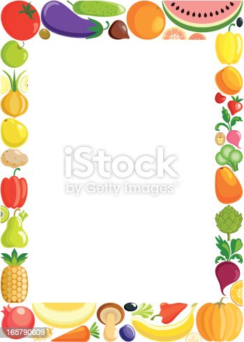 Fruit Frame Stock Vector Art Amp More Images Of Agriculture