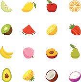 Fruit full color flat design icon. Vector illustration