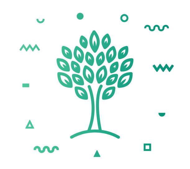 ilustrações de stock, clip art, desenhos animados e ícones de fruit garden line style icon design - picking fruit
