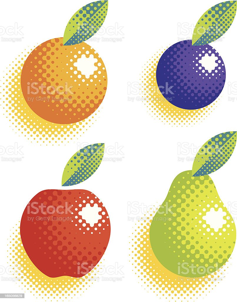 fruit halftone royalty-free stock vector art