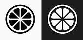 istock Fruit Icon on Black and White Vector Backgrounds 830517312