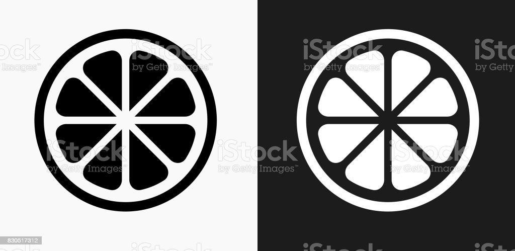 Fruit Icon on Black and White Vector Backgrounds vector art illustration