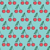 istock Fruit Icon Seamless Pattern, Cherries 1205033019