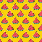 istock Fruit Icon Seamless Pattern, Watermelon 1205032881