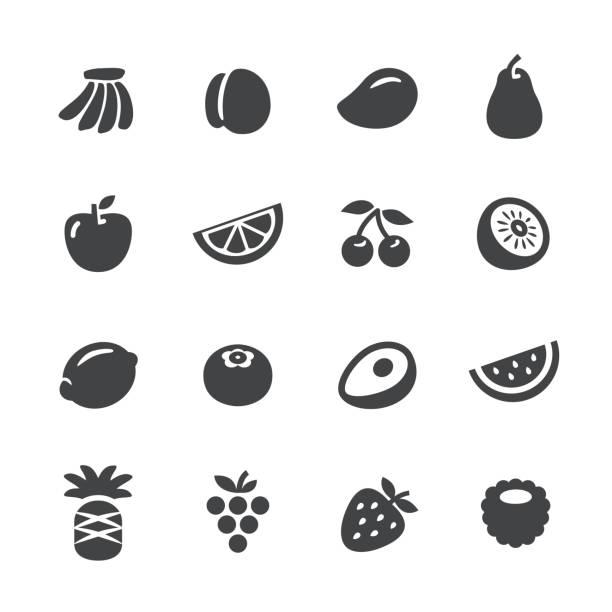 ilustrações, clipart, desenhos animados e ícones de ícones de frutas - série acme - fruit salad