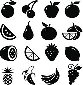 Fruits icon set. Professional vector icons for your print project or Web site. See more in this series.