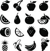 Fruit Icons - Black Series