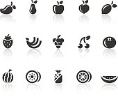Fruit Icons | Simple Black Series