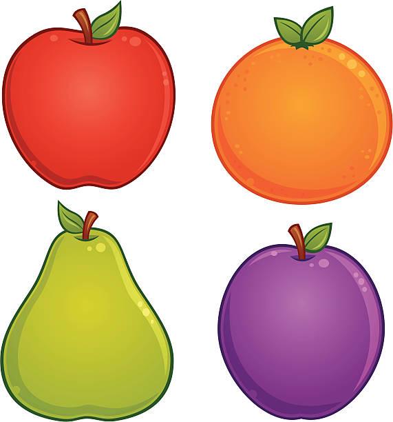 Fruit Icons vector art illustration