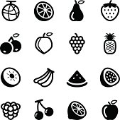 Vector file of Fruit Icons