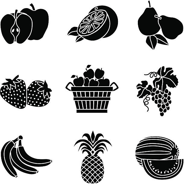 Black And White Pineapple Illustrations, Royalty-Free ...