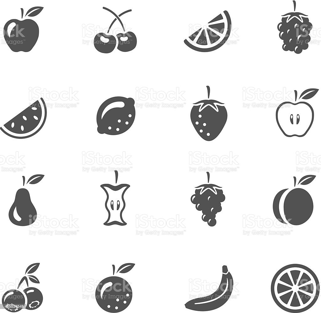 Icônes de fruits - Illustration vectorielle