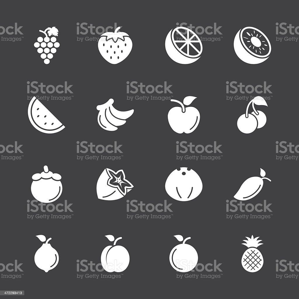 Fruit Icons - White Series | EPS10 royalty-free stock vector art